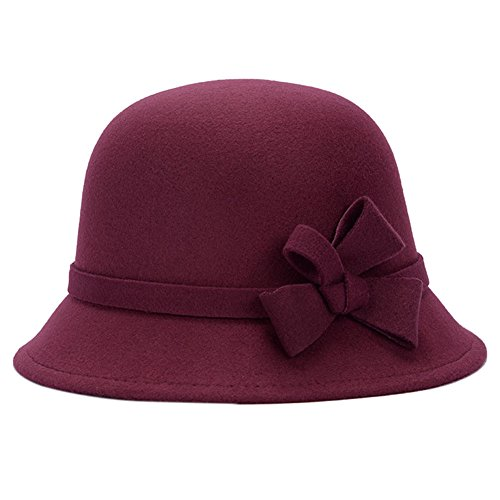 Cityoung Womens Vintage Cloche Bowknot product image