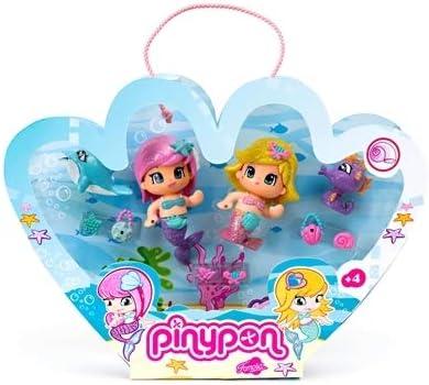 Pinypon Pack de 2 Figuras de Sirenas, para niños a partir de 4 años (Famosa 700008931)