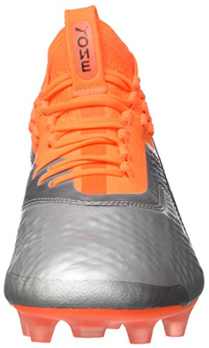 1 Football One ag Orange puma Chaussures Argenté Black Silver Homme Lth De shocking Fg puma 01 Puma AqC5B