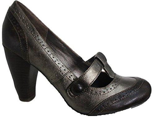 forro zapatos peltre de metal Cuero real con color URq0UnFT