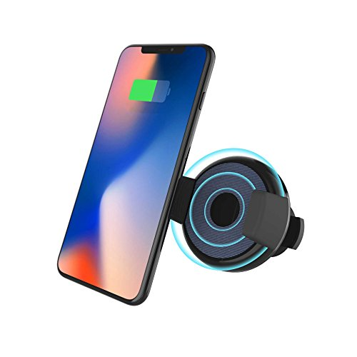 LAX Wireless Charger and Car Mount Holder for iPhone 8/8 Plus/X/Samsung by LAX Gadgets