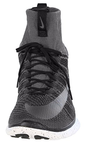 NIKE Free Flyknit Mercurial Men's Running Sneakers Dark Grey-silver discount fast delivery outlet really clearance browse free shipping order cheap price outlet sale 3eKOGB
