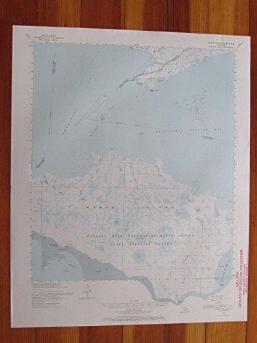 Marsh Island Louisiana 1970 Original Vintage USGS Topo Map