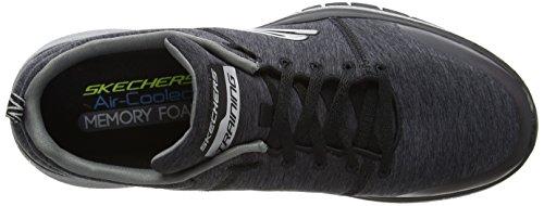 Skechers Burst Tr Locust Heren Sneakers Sneaker Grijs Zwart / Houtskool