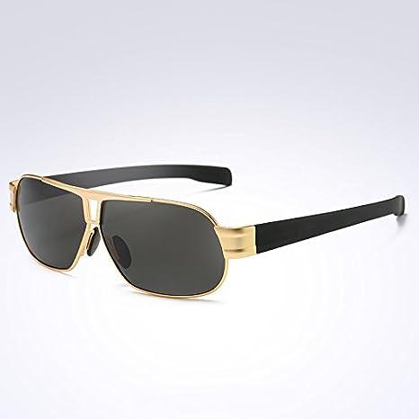 TIANLIANG04 Hombre Gafas de Sol polarizadas Gafas de Sol Hombre Gafas de Sol Gafas Tonos Hombre UV400,C4 Marco Dorado: Amazon.es: Deportes y aire libre