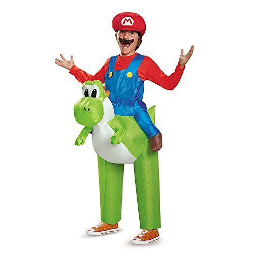 Disguise Mario Riding Yoshi Child Costume (Inflatable Halloween Costume)