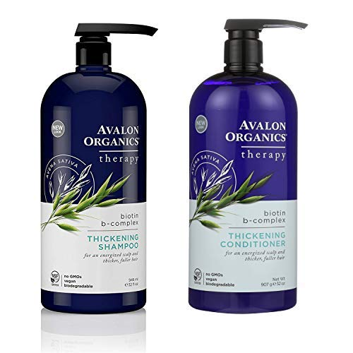 Avalon Organics Shampoo & Conditioner Biotin-B (32 Oz - Shampoo Organics Avalon