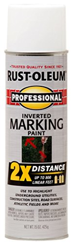 - Rust-Oleum 266593-6 266593 Professional 2X Distance Marking Spray Paint, 15-Ounce, White, 6 PK