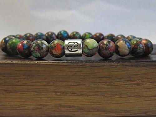 Cancer Sign Bracelet Men Cancer Gemstone Bracelet Cancer Horoscope Gemstone Bracelet Cancer Zodiac June Birthstone Charm Cancer Bracelet