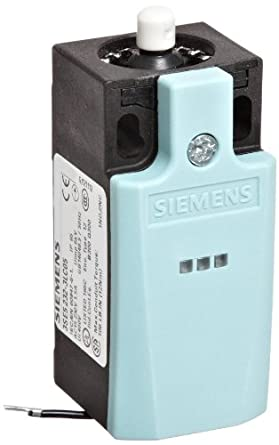 Siemens 3SE5 232-3LC05 Mechanical Position Switch, Complete Unit, Plastic Enclosure, 31mm Width, Rounded Plunger, 1 Yellow LED, 1 Green LED, Snap Action Contacts, 1 NO + 2 NC Contacts, 230VAC LED Voltage