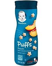 Gerber Graduates Baby Food Puffs, Peach, 42g