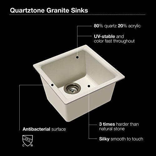 Houzer E-100 MIDNITE Quartztone Series Granite Dual Mount Bar/Prep Sink, Black by HOUZER (Image #2)