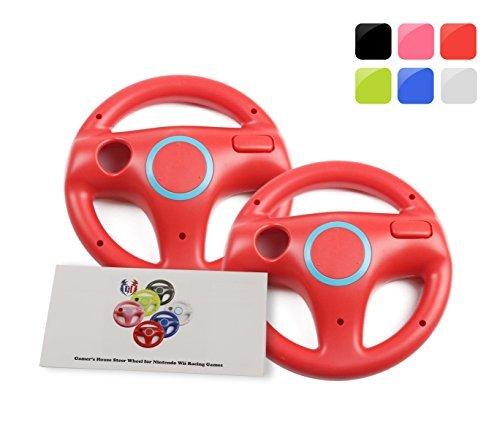 Wii U Wii Volante para juegos de carreras, color blanco original, Mario Kart Racing Wheels, 2