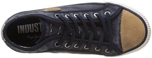 Pepe Jeans London Industry Blue, Zapatillas Para Niños Azul (Indigo)