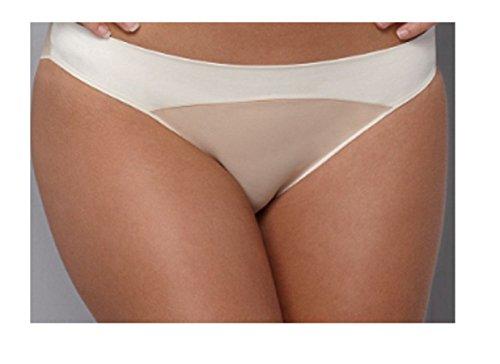 Calvin Klein Womens Satin Sculpt Bikini, Skin XL
