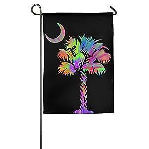 Palmetto árbol Tie Dye moda exterior/interior decorativa bandera para regalo