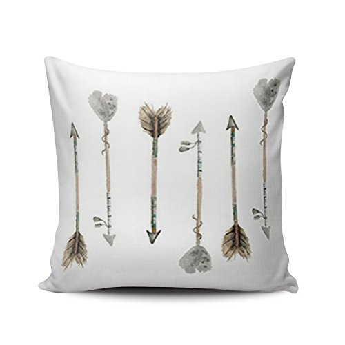 (SALLEING Custom Fashion Home Decor Pillowcase Watercolor Fall Arrows Square Throw Pillow Cover Cushion Case 18x18 Inches One Sided Print)