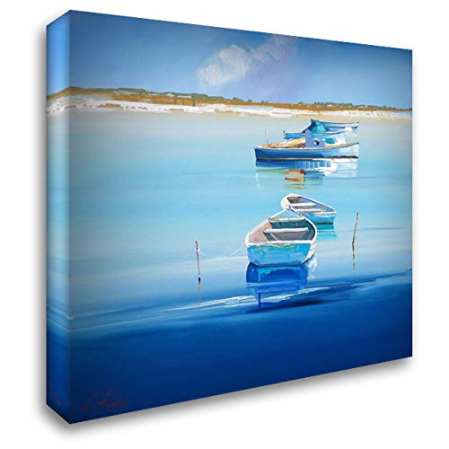 River Moorings 20x20 Gallery Wrapped Stretched Canvas Art by Penny, Craig Trewin