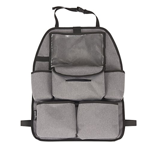 Evenflo Deluxe Car Backseat Organizer, Grey Melange ()