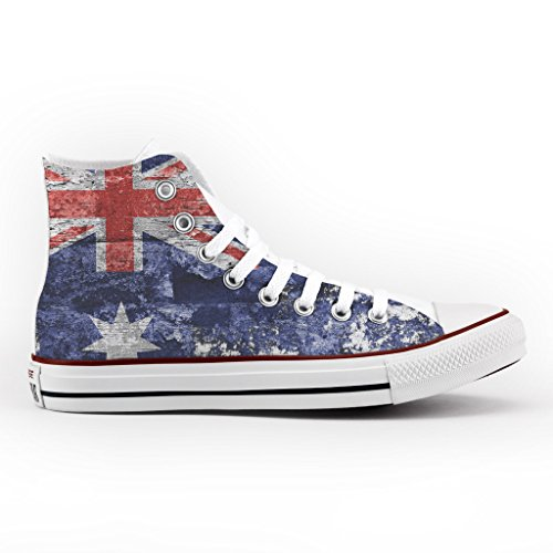 Converse All Star Personnalisé et Imprimés - chaussures à la main - produit Italien - Vintage Australian