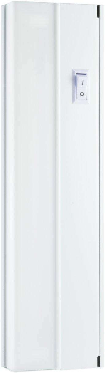 GE 16029 White, Offi Premium 13 Inch Fluorescent Under Cabinet Light Fixture, Direct Wire, Warm, Steel Housing, On/Off Switch, No Hum, Flicker Free, Ideal for Kitchen, Office, Garage, Workbench