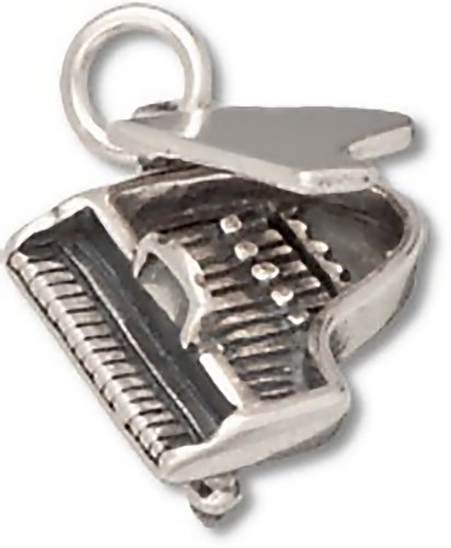 Corinna-Maria 925 Sterling Silver Grand Piano Charm Top -