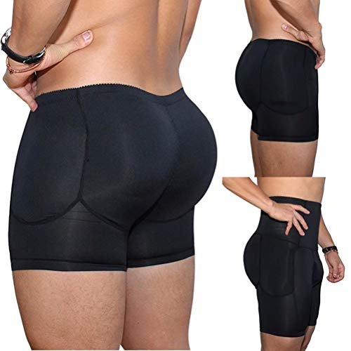 944233677 Dcohmch Men Black Brief Padded Butt Booster Enhancer Hip-up Boxer High  Waist Skinny Panties Underwear