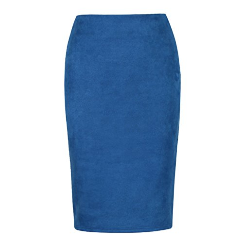 Midi Hiver Couleur Blue Automne Tube Printemps Femme Moulante Jupes Suede Femme Crayon Femmes Basique Jupes Jupe Multi Reveryml qf0Hw4Cn