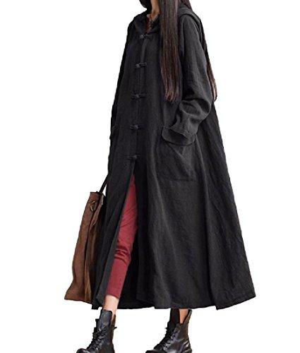 Femme Manches Sankthing Noir Longues Robe wx6zAqAfB1