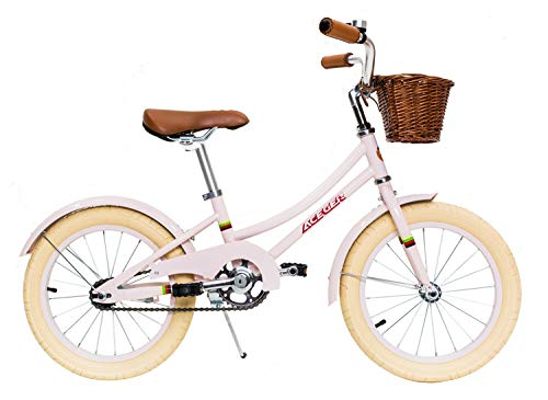 ACEGER Girls Bike with Basket for Kids, 14 inch with Training Wheels, 16 inch with Training Wheels and Kickstand, 20…