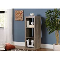 3 Shelf Storage Wood Cube Bookcase Cabinet, Multiple Colors, Cube Unit, Transitional Style, Ideal for Living Room, Bedroom, Home Office,Hall,Home Furniture, BONUS e-book (Rustic Gray)