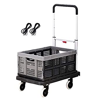 8a904da53009 Folding Trolley, Portable Trailer Aluminum Alloy Household ...