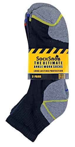Sock Snob Chaussettes de travail à la cheville en coton rembourré ultime pour hommes pour bottes à bout en acier 2