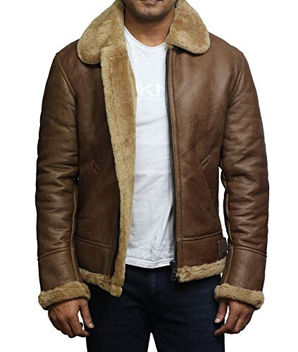 Brandslock Airforce Hombres RAF Aviador Soft Shearling Piel ...