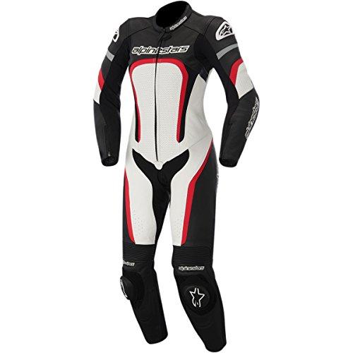 Alpinestars Motegi Women's 1-Piece Street Motorcycle Race Suits - Black/White/Red / 50