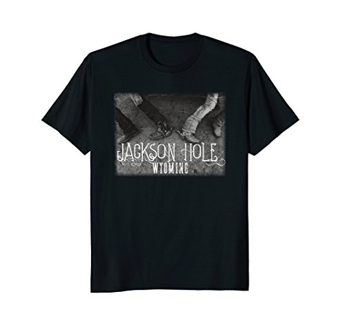 Barrel Racer Spurs (Jackson Hole Wyoming Tshirt Barrel Racers with Spurs)