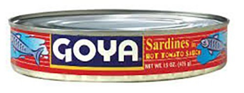 Goya Sardines In Hot Tomato Sauce, Oval, 15 Ounce (Pack of