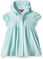 Kate Mack Little Girls' Toddler Candy Cloud Hooded Swim Coverup, Aqua, 4T