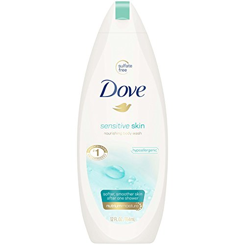 Dove Body Wash, Sensitive Skin, 12 oz (Dove Essential Nutrients)