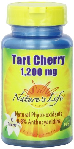 Cherry 30 Tabs - Nature's Life Tart Cherry Tablets, 1200 Mg, 30 Count