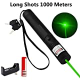 6. ThuZW Store Green Light Pointer High Power Visible Beam with Adjustable Focus for Hunting Hiking, Mini Flashlight Interactive Light Entertain and Train Your Cat Kitten Dog Pet