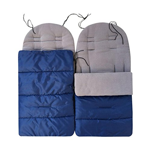 (Toddler Winter Warm Footmuff Outdoor Tour Waterproof Baby Infant Universal Stroller Sleeping Bag Footmuff Sack,Anti-Kicking Sleeping Nest,Wearable Stroller Blanket (Dark Blue))