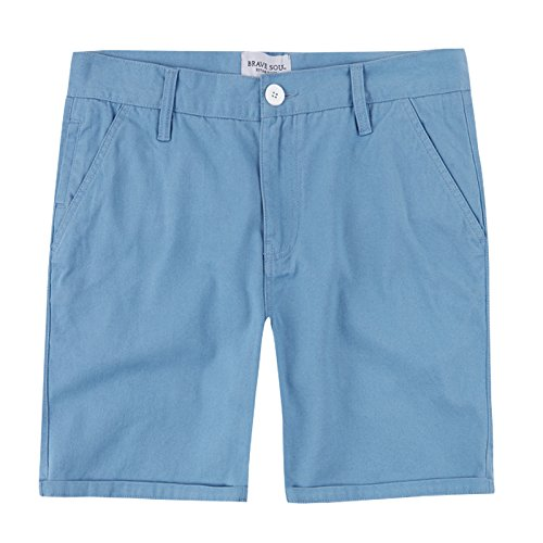 - Brave Soul Smith Mens Chino Shorts Pale Blue - Small
