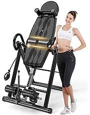 VEVOR Opvouwbare zwaartekracht-inversiebank, inversiemachine, uitrusting voor thuis, opblaasbaar, therapie-bescherming, zwart/blauw/grijs/rood