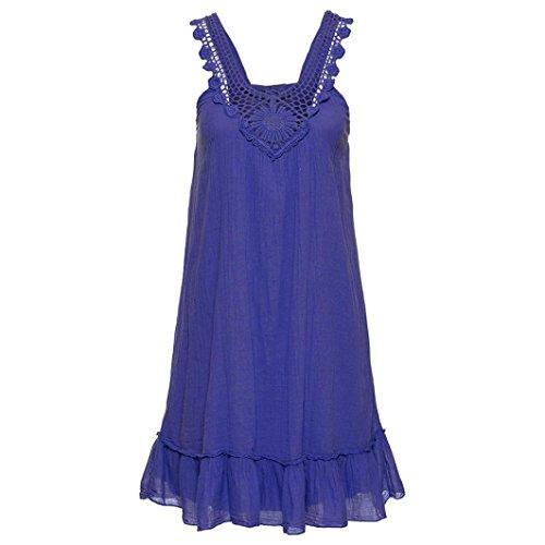 pizzo vestiti mare donna estivo vestito lungo spiaggia donna Copricostume lungo donna Blu donna Copricostume donna donna Vintage abito copricostume Leey vestito vwZxqPF5tx