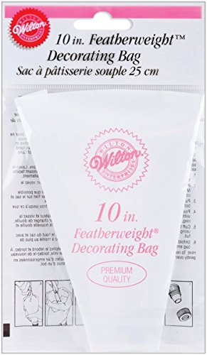 Wilton Featherweight 10 Inch Decorating Bag (Decorating Plastic Bag Coated)