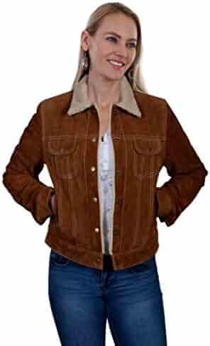 987255c51890d Scully Womens Raewyn Sherpa Suede Ladies Fun Little Jean Jacket