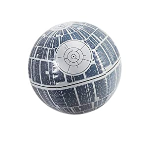 14″ Gray Star Wars Death Star Large Light Up Inflatable Beach Ball Swimming Pool Toy
