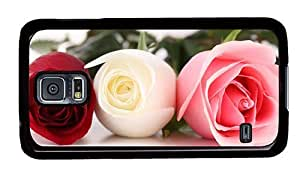 Hipster Samsung Galaxy S5 Case discount Colored Roses PC Black for Samsung S5