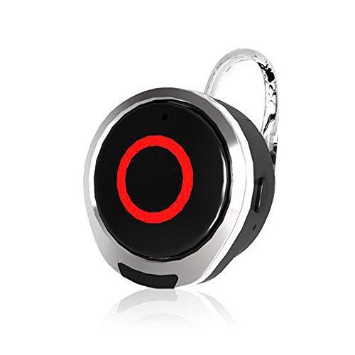 Price comparison product image Super Mini Headset Wireless Stereo In-ear Headphones Sweatproof Sports Earphone Earbuds Earpiece With Mic for iPhone 7 6S 6 5 Plus 5 5S LG Samsung NOKIA Blackberry Nexus HTC Tablets Laptop Etc (Black)